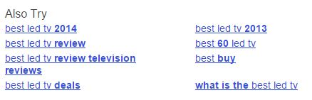 Yahoo Realated Searches