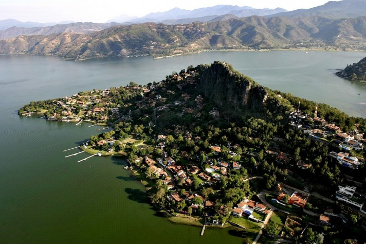 Valle De Bravo View from Helicopter