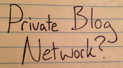 Created Private Blog Network