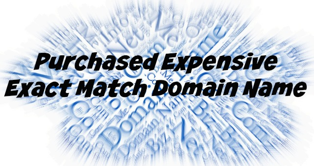 Purchased Expensive Exact Match Domain Name
