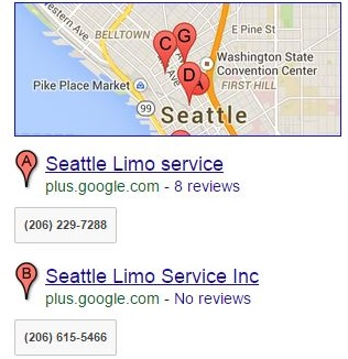Google Local Business SERP