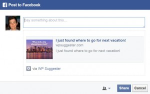 WP Suggester Facebook Sharing