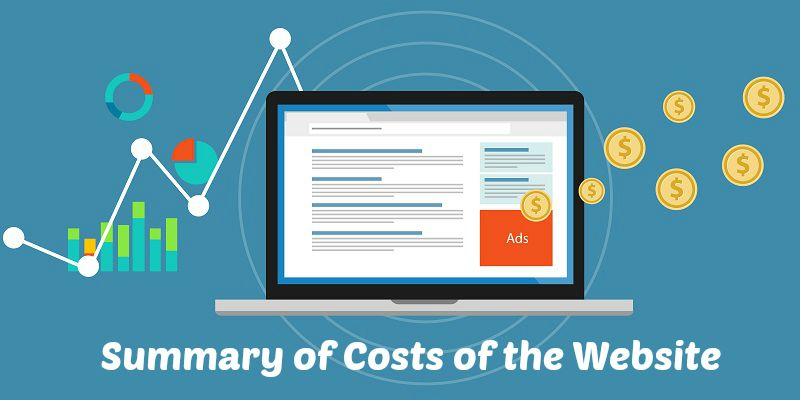 Summary of Costs of the Website