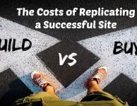 Buying vs building website